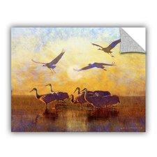 Sunrise Cranes by Chris Vest Wall Mural