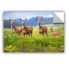 Deer Family by Chris Vest Wall Mural