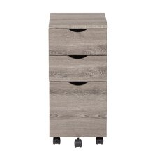 Lois 3 Drawer Mobile File Cabinet