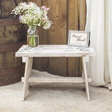 Personalized Rustic Wooden Guestbook Bench