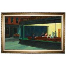 'Nighthawks' by Edward Hopper Framed Painting Print