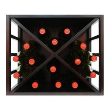 Stackable Diamond 15 Bottle Tabletop Wine Rack