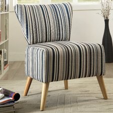 Honolulu Stripe Print Slipper Chair by Langley Street