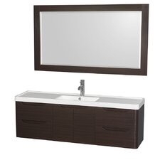 Murano 60 Single Bathroom Vanity with Mirror by Wyndham Collection