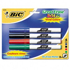 Great Erase Bold Pocket Style Dry Erase Fine Point Markers (4/Pack) (Set of 2)