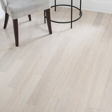 "3-5/8"" Solid Bamboo Flooring in White"
