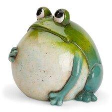 Big Belly Ceramic Frog Statue