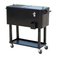 80 Qt. Rolling Portable Drink Cooler Cart