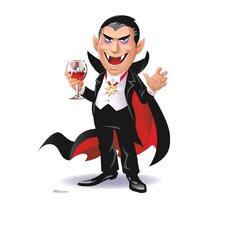 Cartoons Dracula Life Size Cardboard Cutout Standup