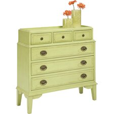 Pistachio Pudding 6 Drawer Accent Chest by HeatherBrooke Furniture