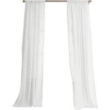 Hyannis Solid Sheer Rod Pocket Single Curtain Panel