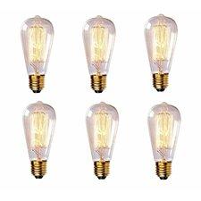60W Vintage Incandescent Light Bulb (Set of 6)
