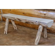 Abordale Half Log Dining Bench by Loon Peak