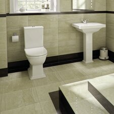 Empire Cloakroom Suite in White