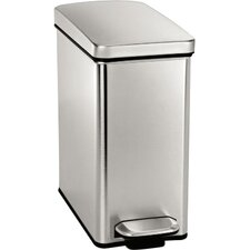 Stainless Steel 2.6 Gallon Step On Trash Can