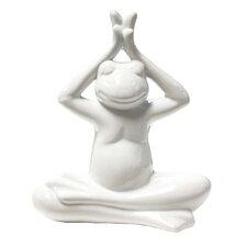 Ceramic Hands Up Yoga Frog Décor Figurine