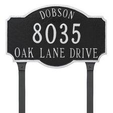 3-Line Lawn Address Sign
