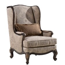Izaak Wing Back Chair by Astoria Grand