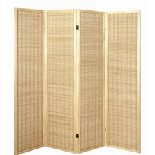 179cm x 182cm Eila Paravent 4 Panel Room Divider