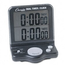 Dual Timer and Clock with Jumbo Display and Lcd