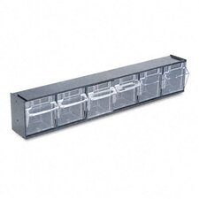 6-Compartment Tip-Out Bin