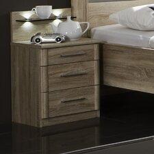 2-tlg. Nachttisch-Set Meran mit 3 Schubladen