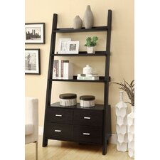 "69"" Leaning Bookcase"
