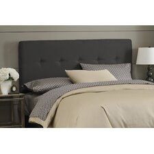 Woodview Tufted Premier Button Microfiber Suede Upholstered Panel Headboard