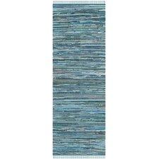 Inkom Blue Striped Area Rug