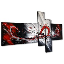 'Splash Abstract' 5 Piece Painting on Canvas Set