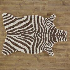 Zebra Stripe Brown Area Rug