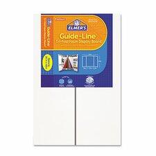 Guide-Line Foam Display Board, 6/Carton