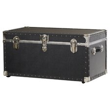 Oversize Trunk with Wheels in Black by Symple Stuff