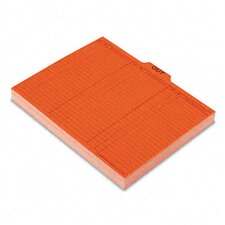 Salmon Color Charge-Out Guides, 1/5 Tab, 11 Point Stock, Letter, 100/Box