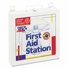 First Aid Station for 50 People, 196 Pieces, Osha Compliant, Metal Case