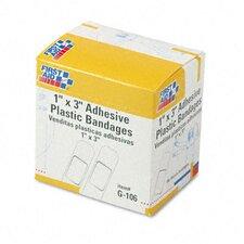 Plastic Adhesive Bandages, 100/Box