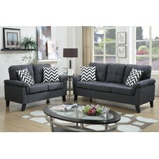 carli 2 piece sofa and loveseat set - Blue Living Room Set