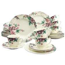 Dark Rose 30 Piece Dinnerware Set