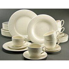 Cora 30 Piece Dinnerware Set with Mug, Service for 6