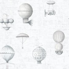 Steampunk Balloons 10m L x 53cm W Roll Wallpaper