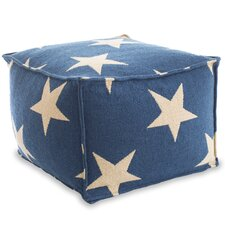 Star Indoor/Outdoor Pouf Ottoman by Fresh American