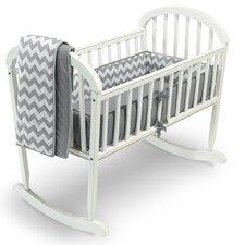 Chevron 3 Piece Cradle Bedding Set
