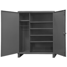 Extra Heavy Duty Welded 12 Gauge Steel Wardrobe Cabinet