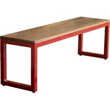 Loft Metal and Wood Entryway Bench by Elan Furniture