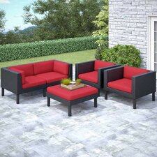 Zoar 5 Piece Patio Sofa and Chair Set with Cushions