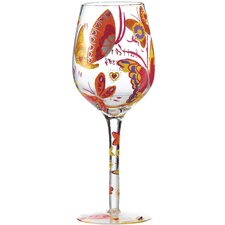 Butterfly Kisses All Purpose Wine Glass