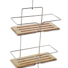 bamboo hanging shower caddy