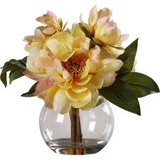 Yellow Peonies in Acrylic Water Vase