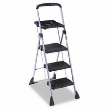 5.08 ft Steel Platform Step Ladder with 225 lb. Load Capacity