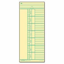 Time Card for Cincinnati, Named Days